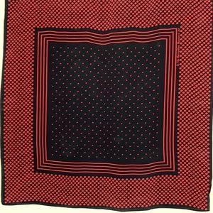 Metropolitan Museum of Art Silk Scarf Red Black